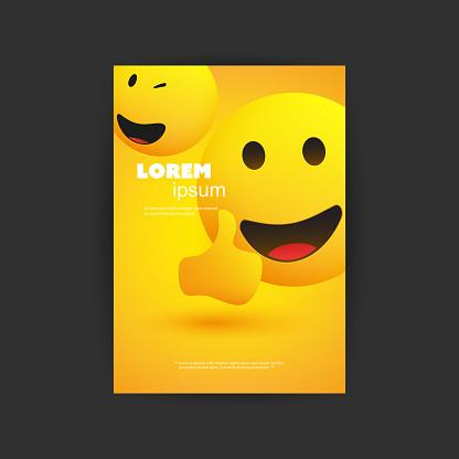 Brochure Template with Emoji