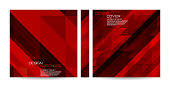 Brochure, Red, Overlapping, Triangles, Banner, Design, Background