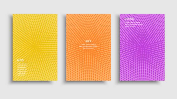 broschüre lebendig bunt - urlaubsaktivitäten stock-grafiken, -clipart, -cartoons und -symbole