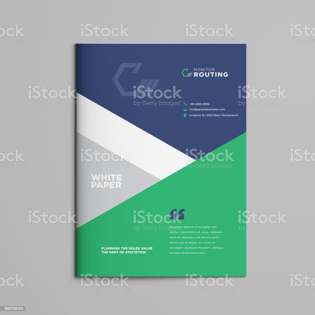 brochure white paper booklet company document business plan annual