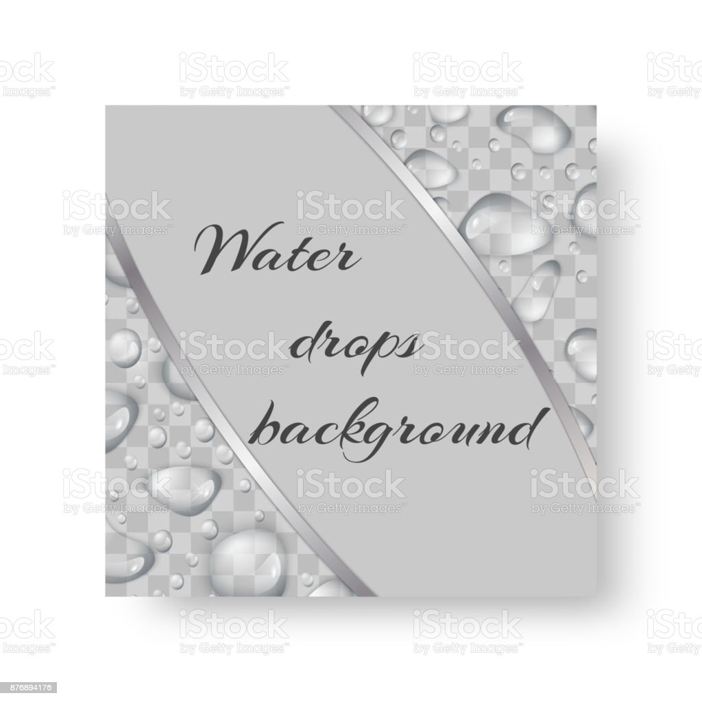 Brochure with drops of water vector art illustration