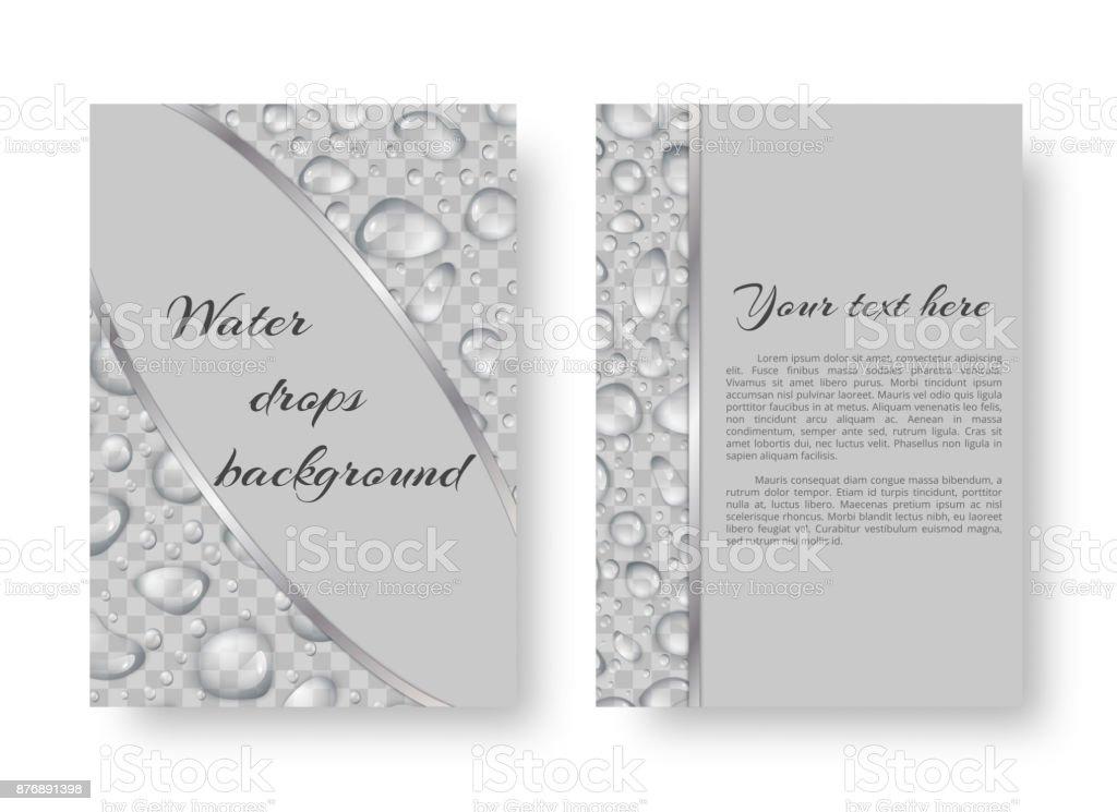 Brochure with rain drops vector art illustration