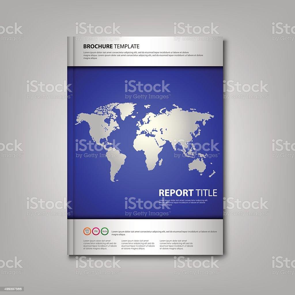 Broschüren Buch Oder Flyer Vorlage Mit World Map Stock Vektor Art ...