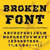 Broken alphabet. Full set