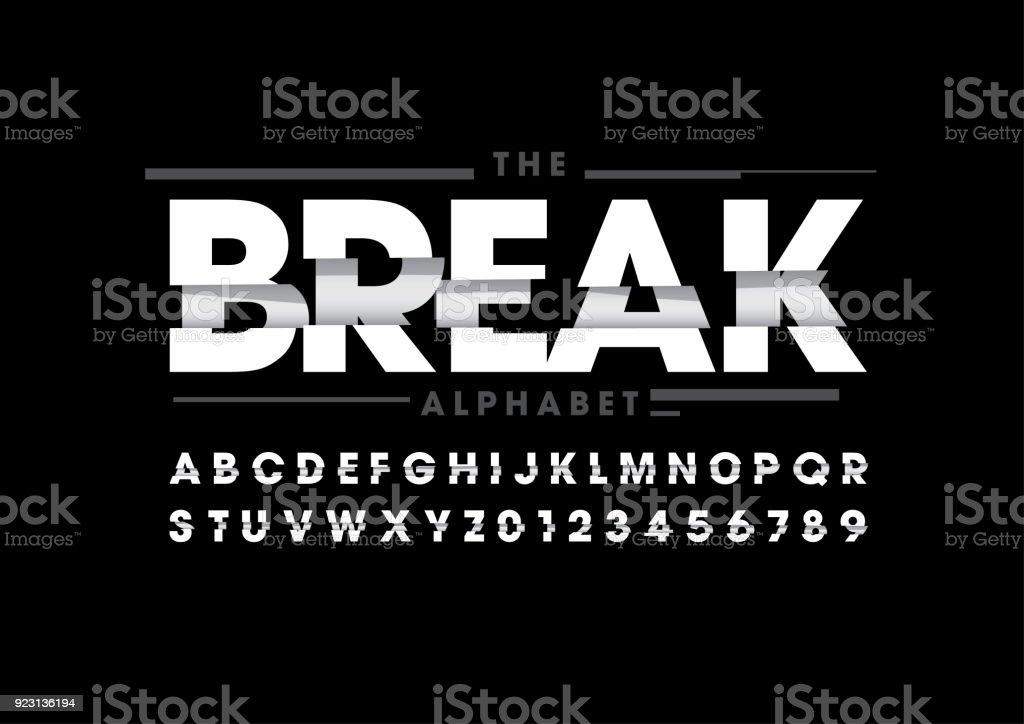 Alfabeto quebrado - ilustração de arte em vetor