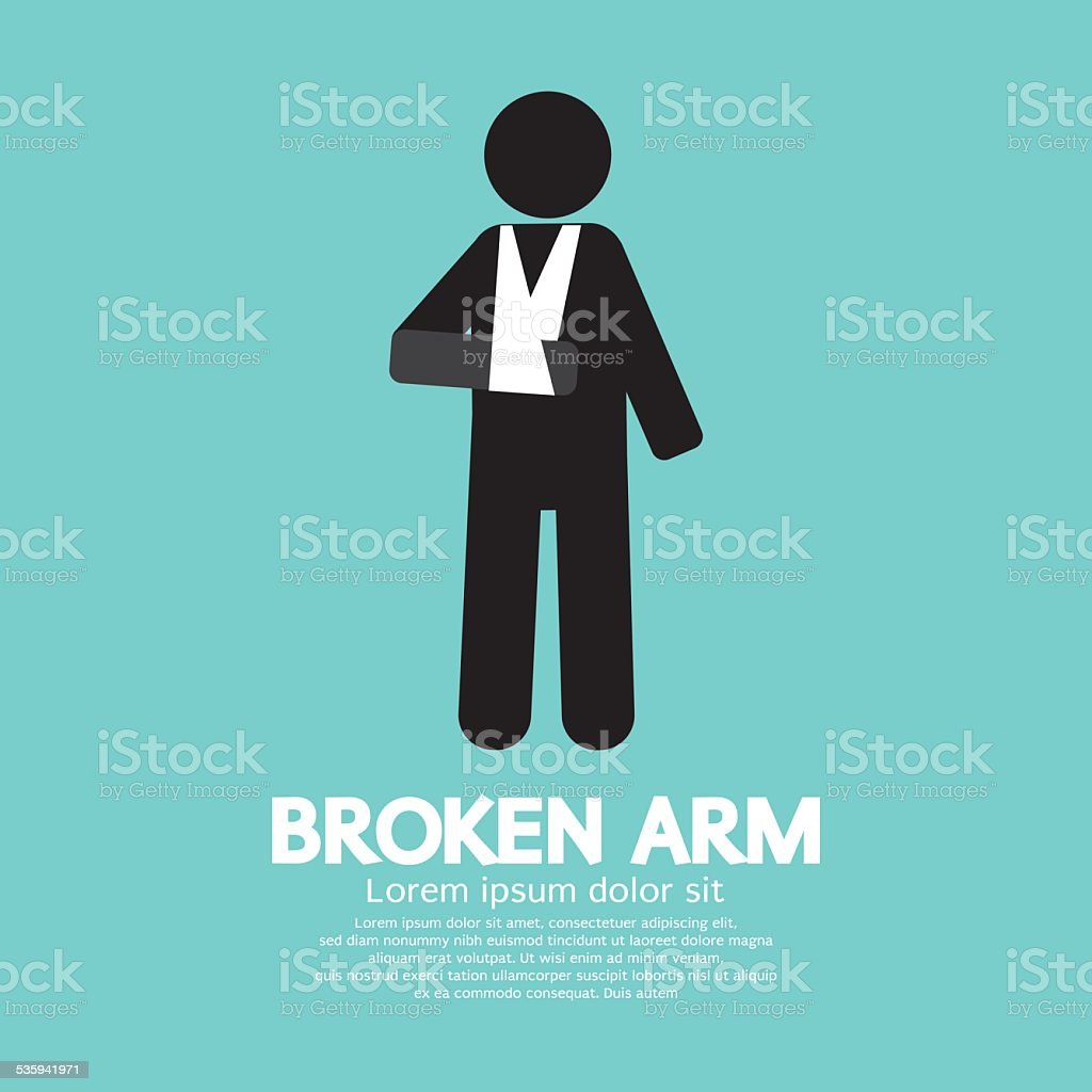 Broken Arm Graphic Symbol vector art illustration