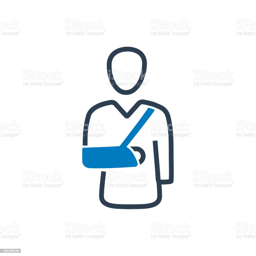 Broken Arm Icon vector art illustration