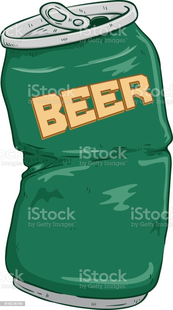 royalty free smashed beer can clip art vector images rh istockphoto com beer can chicken clip art beer can chicken clip art