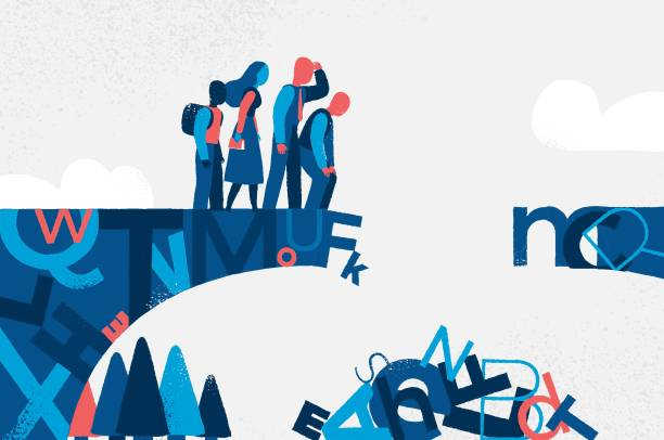 Broken Bridge of Culture vector art illustration
