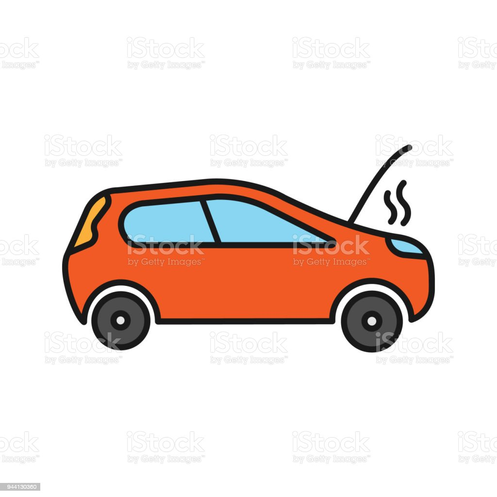 Broken Car Color Icon Royalty Free Stock Vector Art Amp