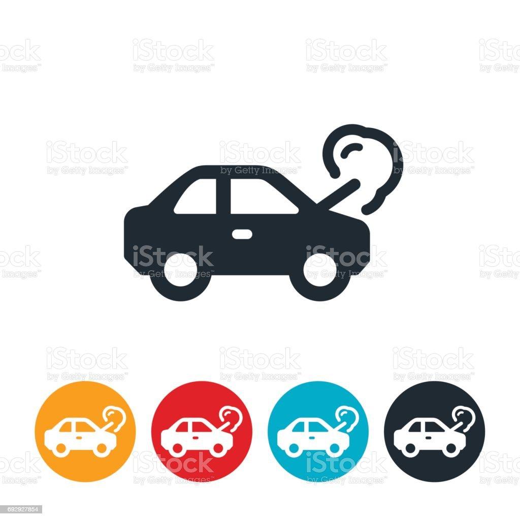 Broken Down Car Icon vector art illustration
