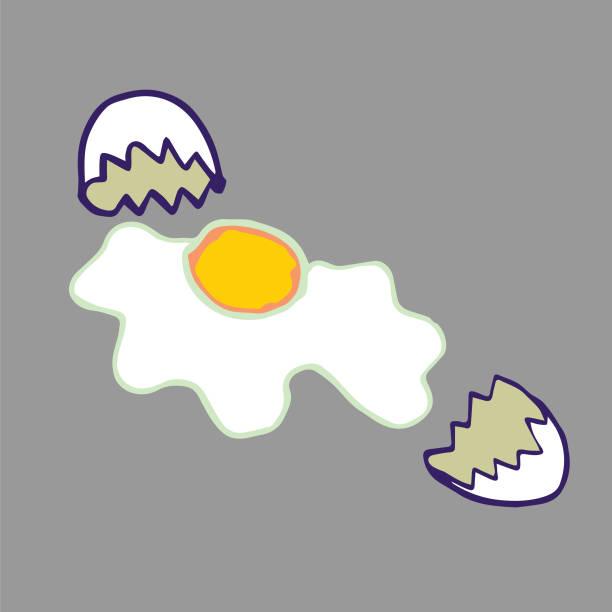 Broken Egg vector art illustration