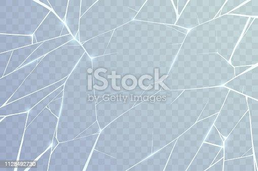 Broken glass background in vector