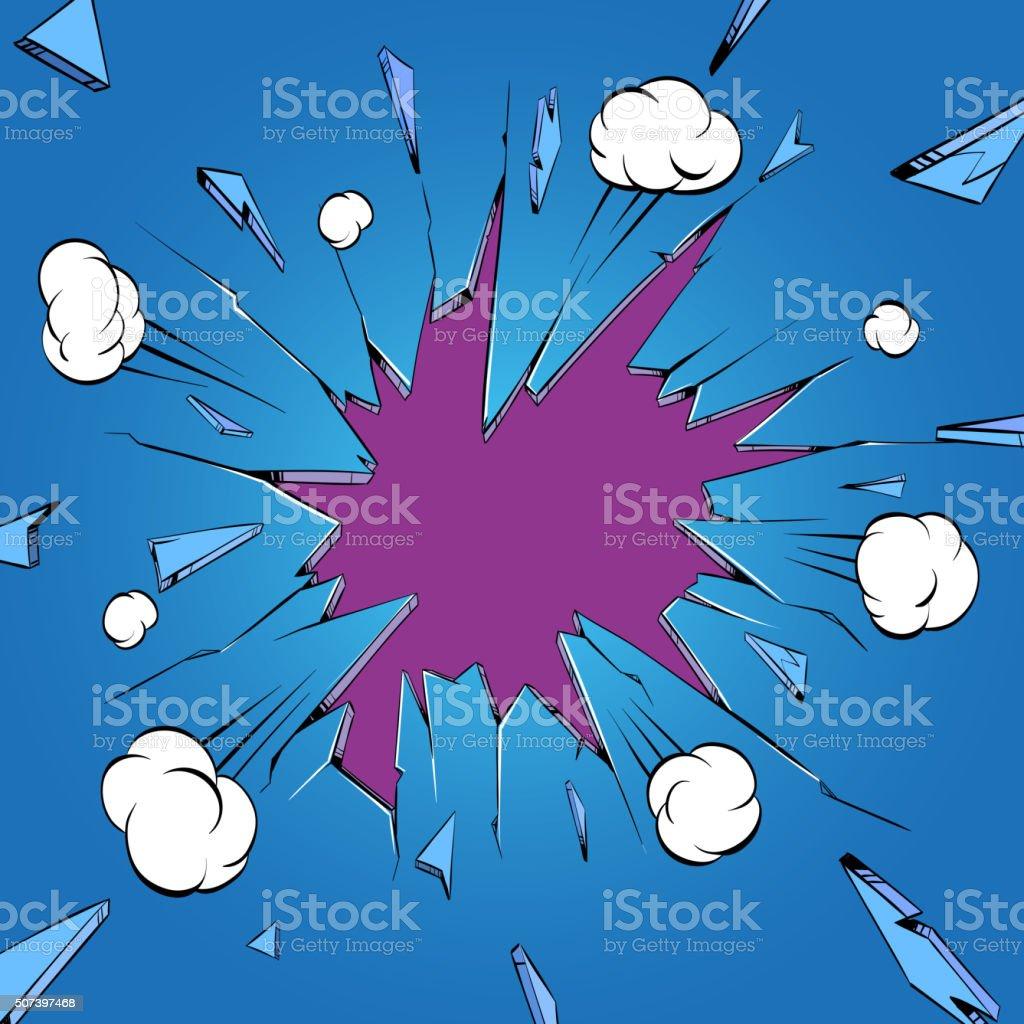 Broken glass. Boom comics backgrounds, vector illustration vector art illustration