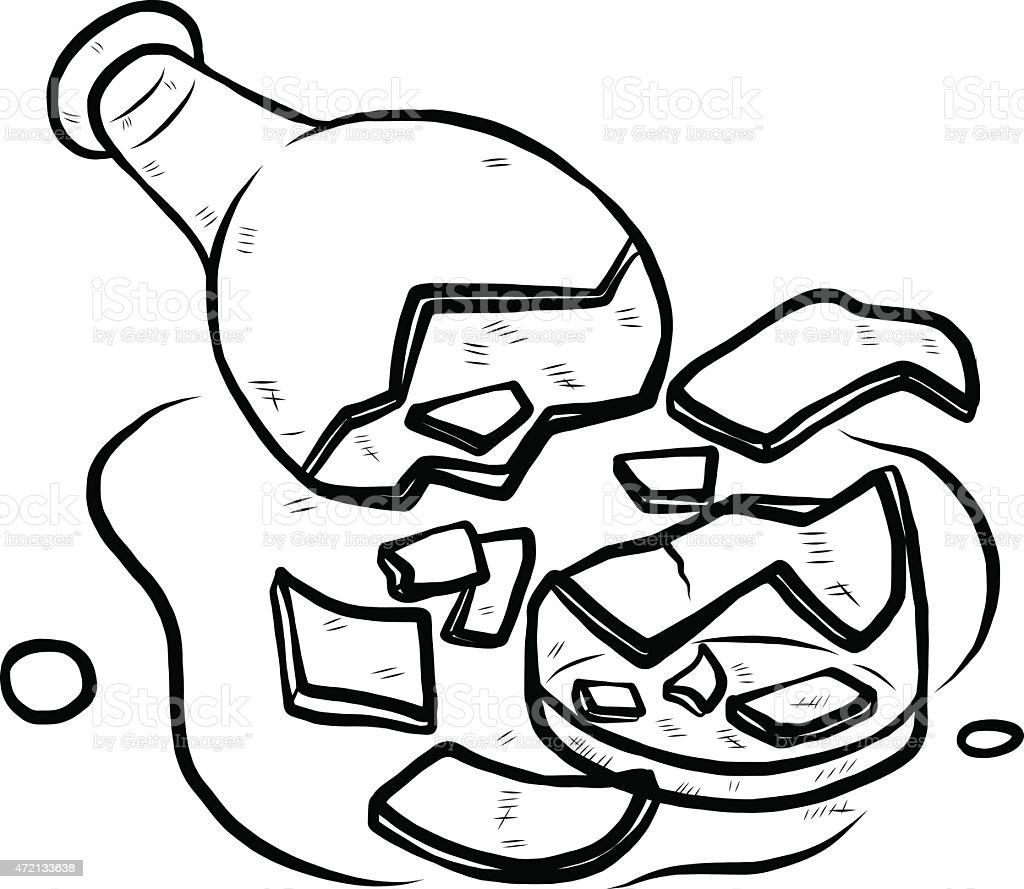 broken glass bottle stock vector art more images of 2015 472133638 rh istockphoto com  broken glass clipart free
