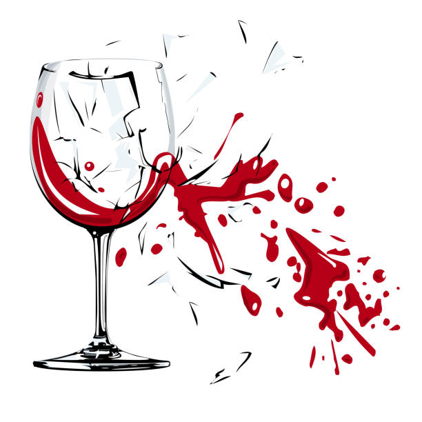448 best ☆ Through the looking Glass ☆ images on Pinterest ...   Broken Wine Glass Painting