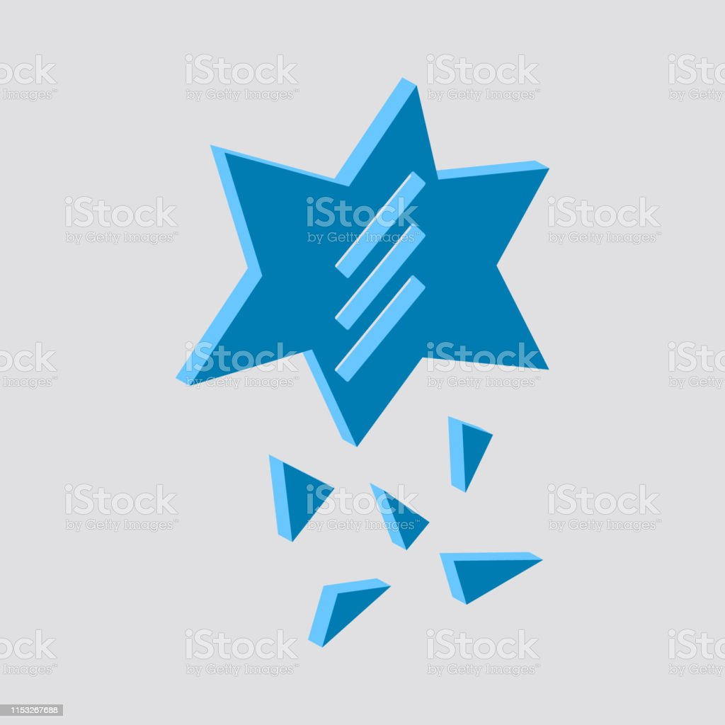Broken Glass Iconisometric And 3d View Stock Illustration