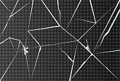 Broken glass on transparent background. Vector