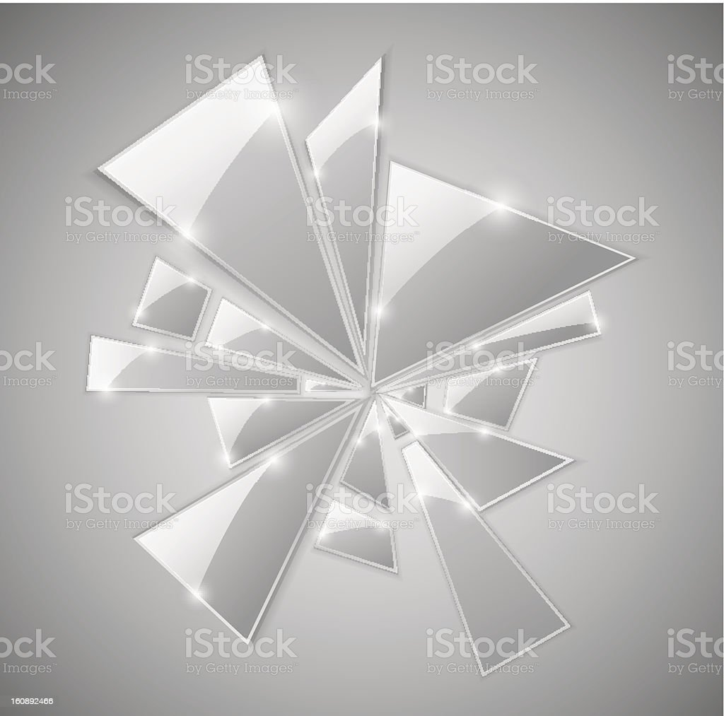 Broken glass royalty-free broken glass stock vector art & more images of abstract