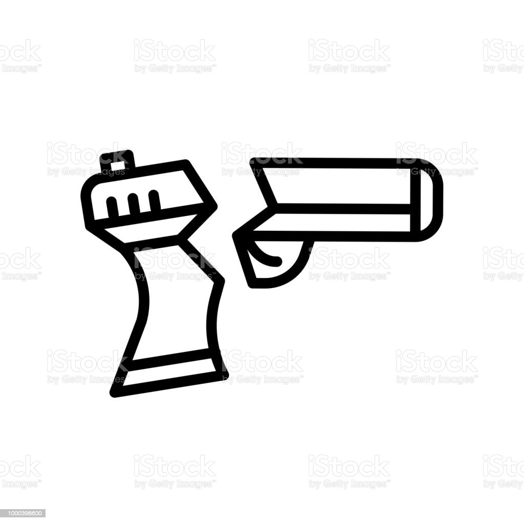 Beyaz Arka Plan üzerinde Izole Kırık Silah Simgesi Stok Vektör Sanatı Araba Motorlu Taşıtnin Daha Fazla Görseli