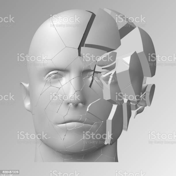 Broken head 3d illustration the split face of a person vector id838487026?b=1&k=6&m=838487026&s=612x612&h=uajkkxfji  bsg19cgx inn tzahy3ivodej6zq2xyy=