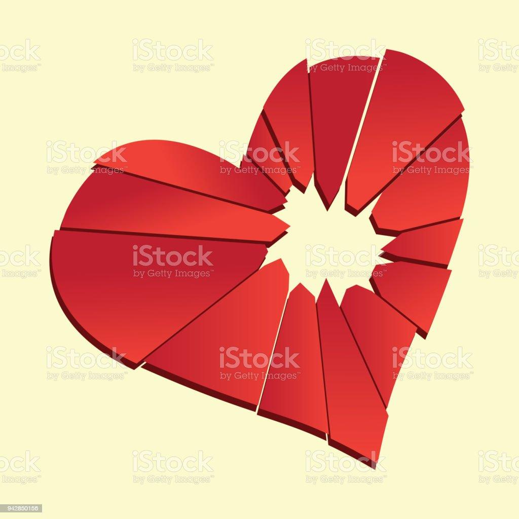 Broken heart heartbreak flat icon for broken heart concept vector broken heart heartbreak flat icon for broken heart concept vector illustration royalty free buycottarizona Gallery