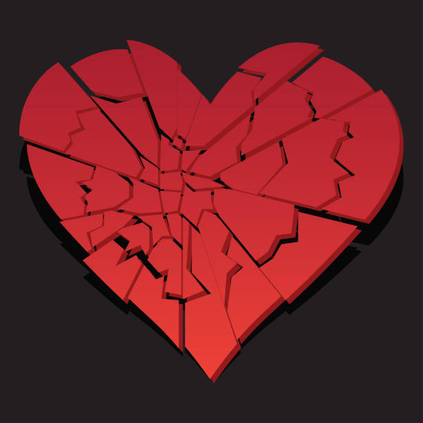 broken heart / heartbreak flat icon for broken heart concept, vector illustration broken heart / heartbreak flat icon for broken heart concept, vector illustration alimony stock illustrations