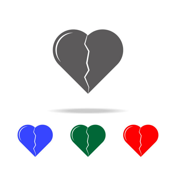 Broken heart icon. Elements of love in multi colored icons. Premium quality graphic design icon. Simple icon for websites, web design, mobile app, info graphics Broken heart icon. Elements of love in multi colored icons. Premium quality graphic design icon. Simple icon for websites, web design, mobile app, info graphics on white background alimony stock illustrations
