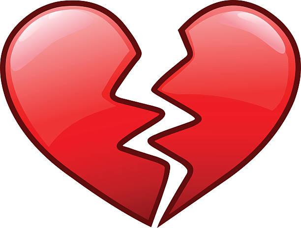 stockillustraties, clipart, cartoons en iconen met broken heart icon - liefdesverdriet
