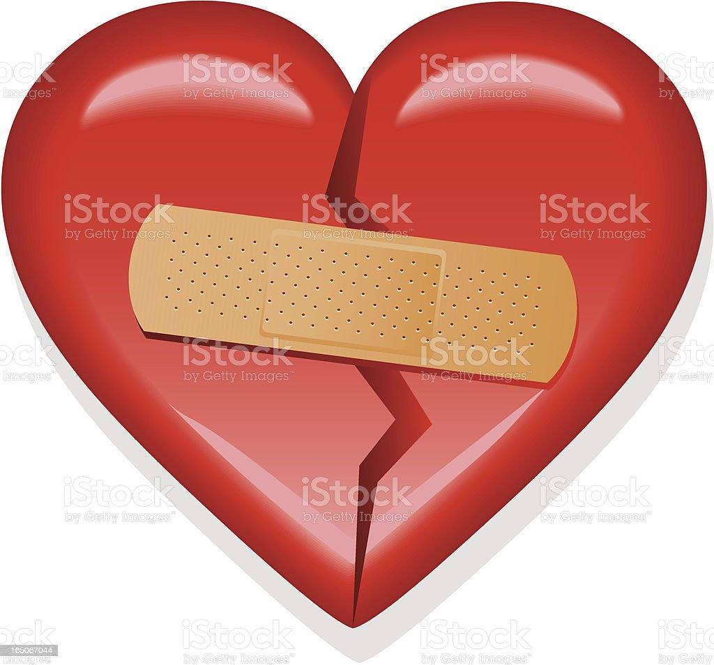 Broken Heart - Mended royalty-free stock vector art