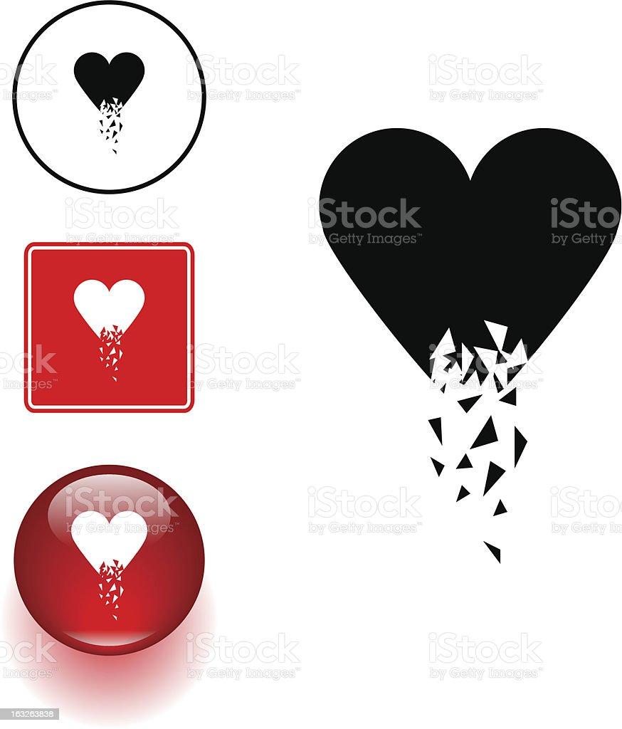 Broken heart symbol sign and button stock vector art more images broken heart symbol sign and button royalty free broken heart symbol sign and button stock buycottarizona