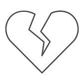 Broken Hearts Pattern Thunder Bolts On Pink Background Divorce Break
