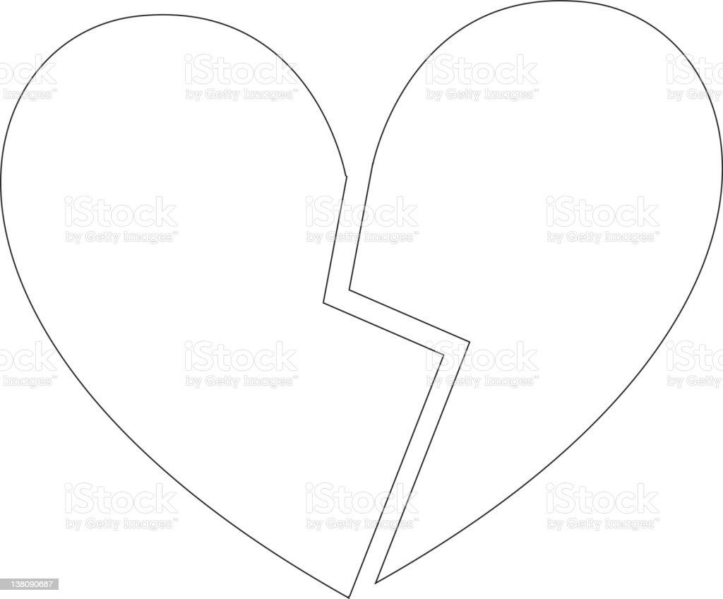 Broken heart. royalty-free stock vector art