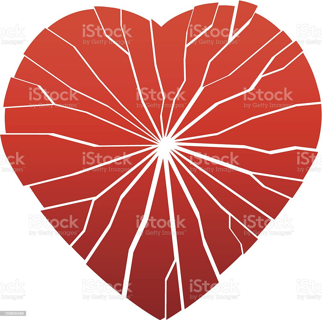 broken heart royalty-free stock vector art