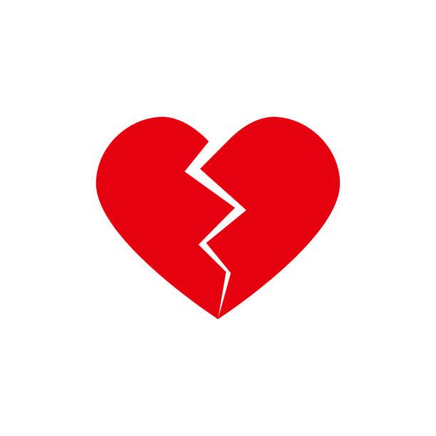 stockillustraties, clipart, cartoons en iconen met gebroken hart vector - liefdesverdriet