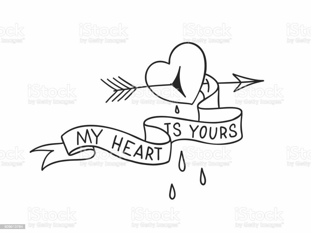 tatouage coeur bris homme