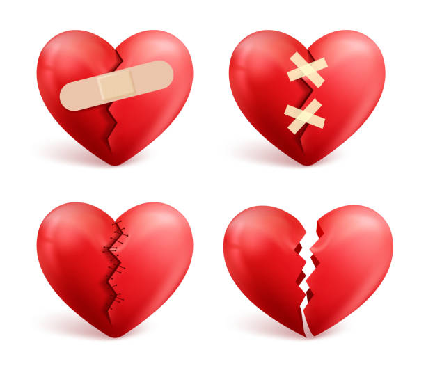 Royalty Free Broken Heart Clip Art Vector Images Illustrations