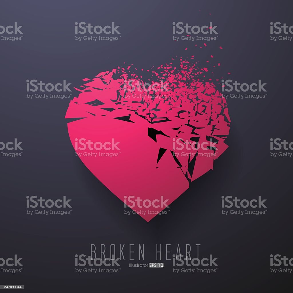 Broken Heart,Vector Graphics vector art illustration