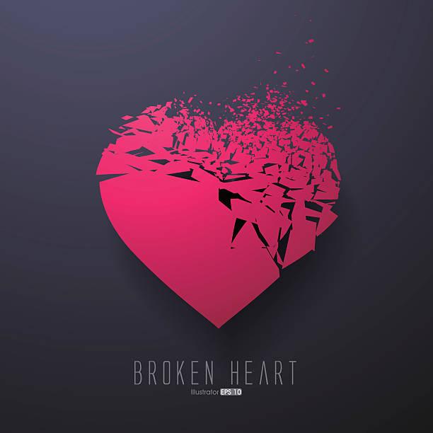 ilustrações de stock, clip art, desenhos animados e ícones de broken heart,vector graphics - furioso