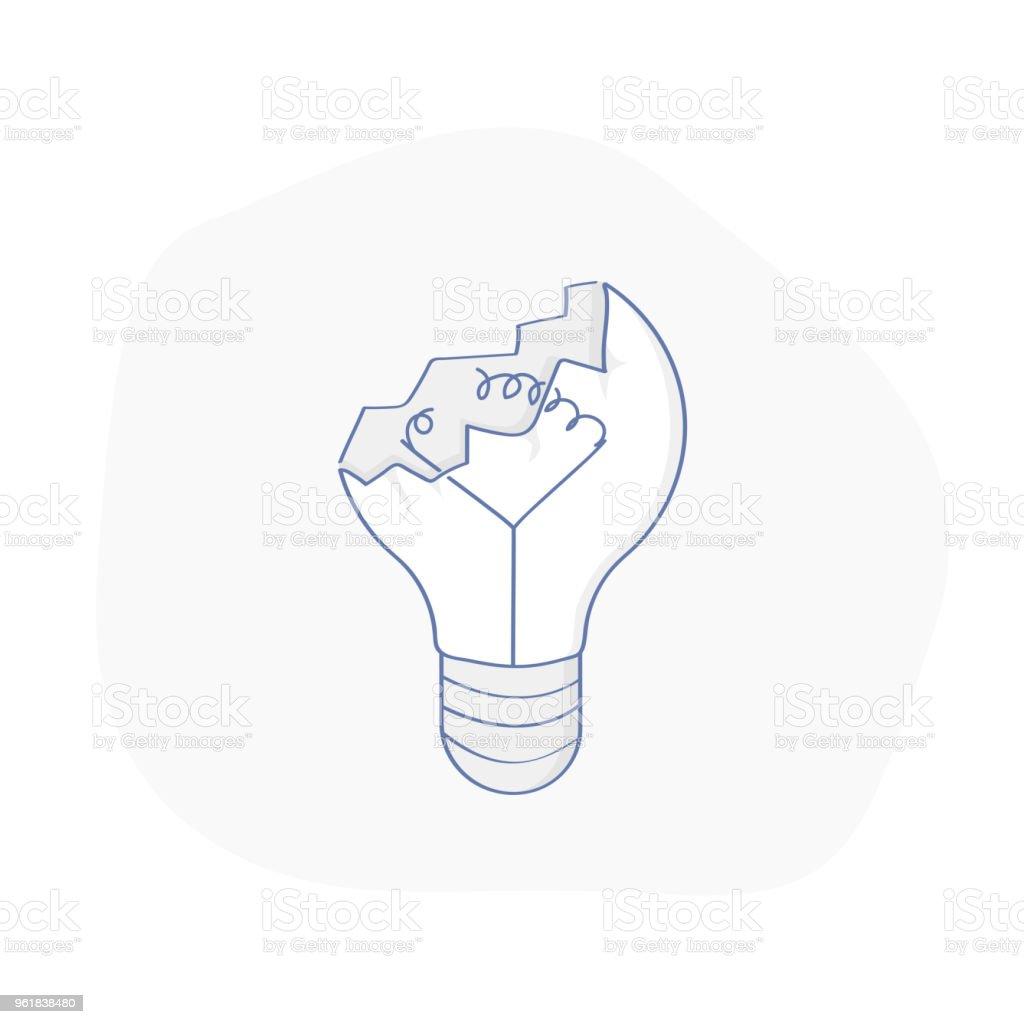 Defekte Lampe Glühbirne Nicht Funktioniert Oder Ausgebrannt Idee