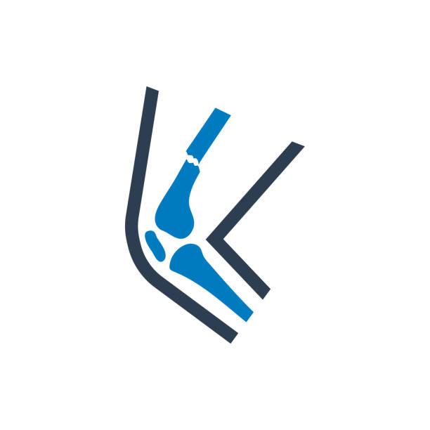 broken leg icon vector art illustration