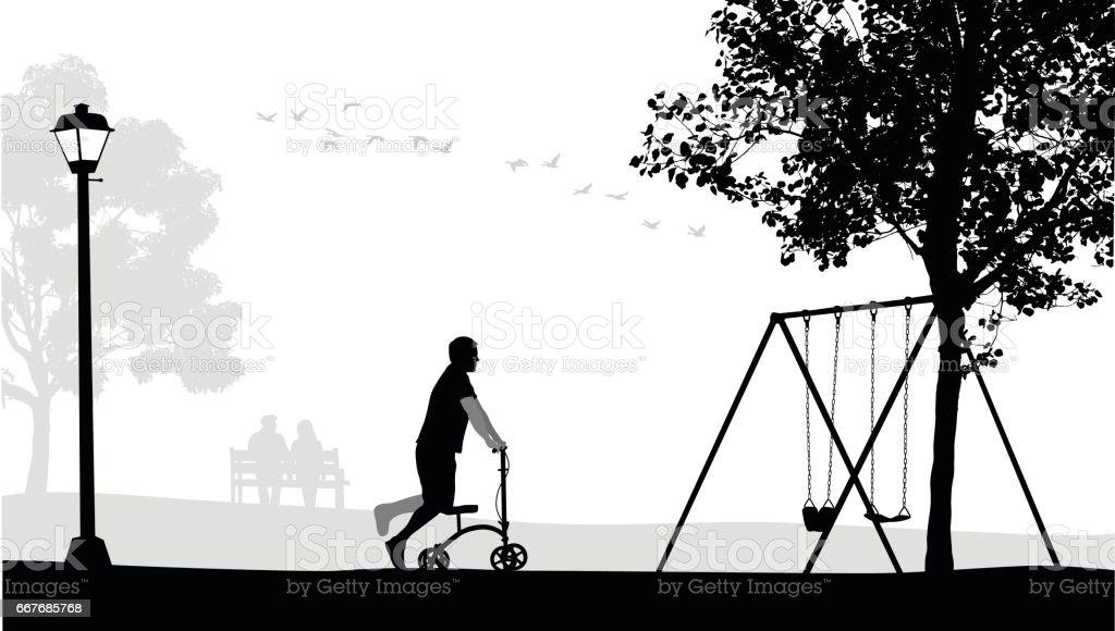 Broken Leg Park – Vektorgrafik