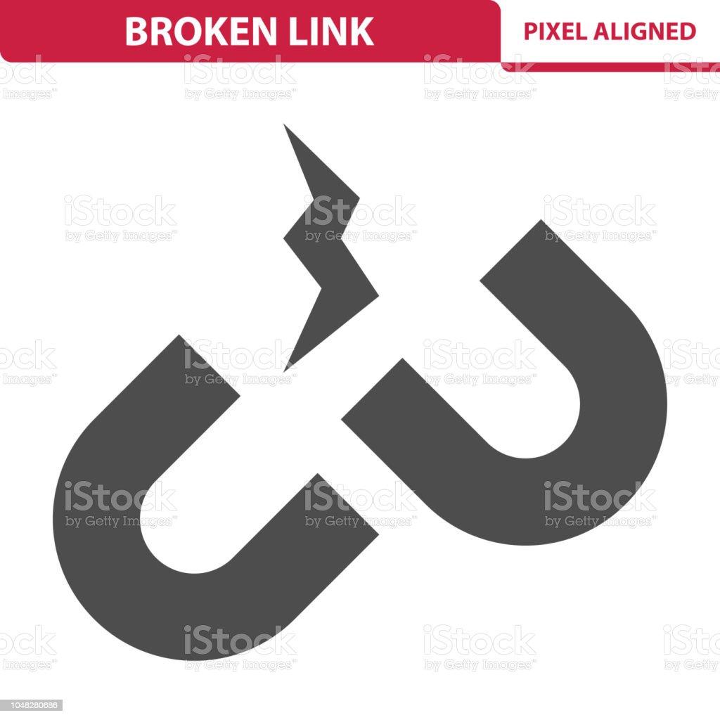 Broken Link Icon vector art illustration
