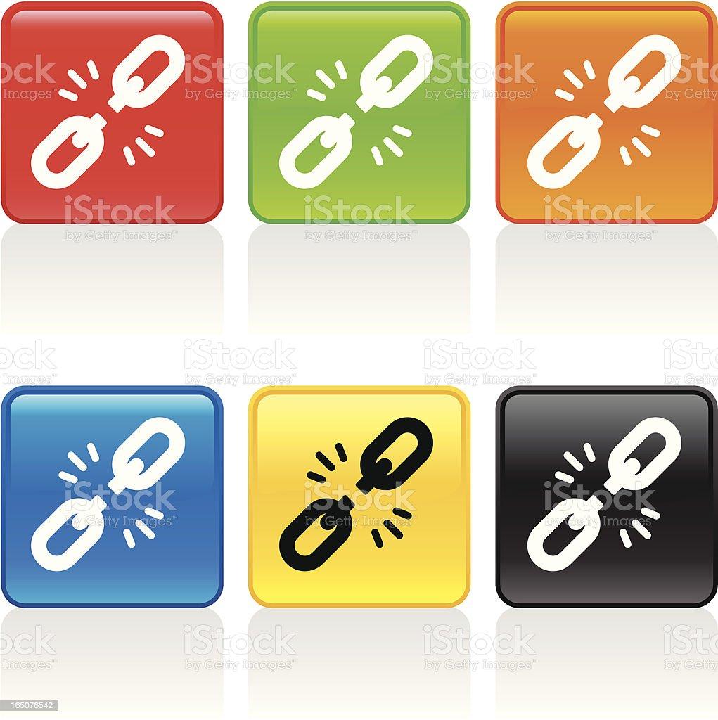 Broken Link Icon royalty-free broken link icon stock vector art & more images of black color