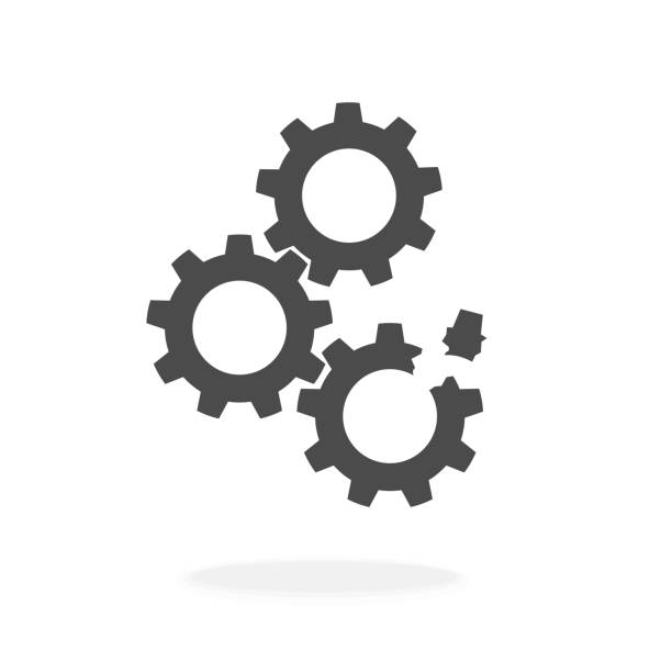 illustrazioni stock, clip art, cartoni animati e icone di tendenza di broken machine - illustrazione vettoriale icona silhouette nera. - attrezzatura