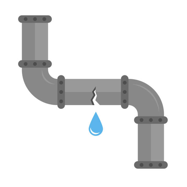 Best Broken Pipe Illustrations, Royalty-Free Vector ...