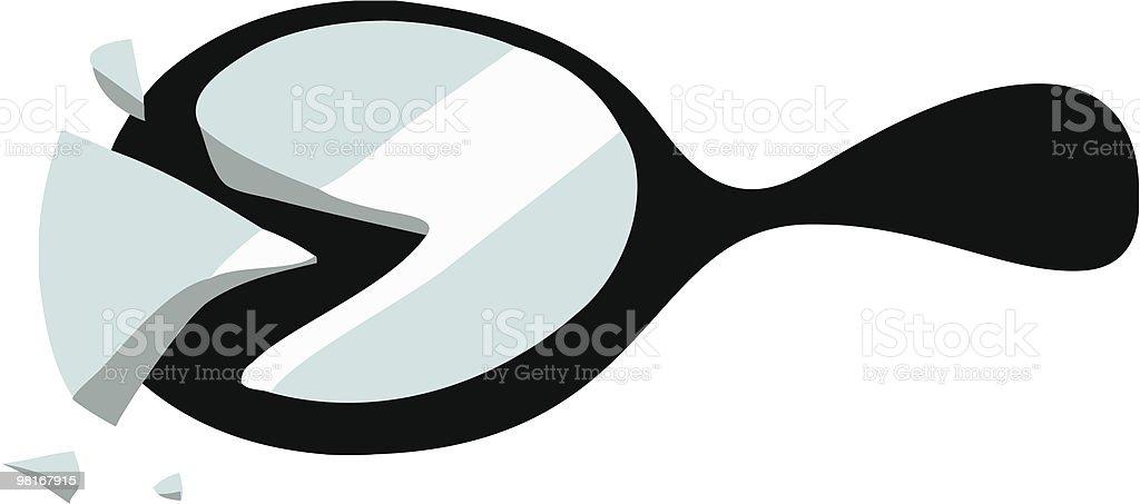Broken Mirror royalty-free broken mirror stock vector art & more images of black color