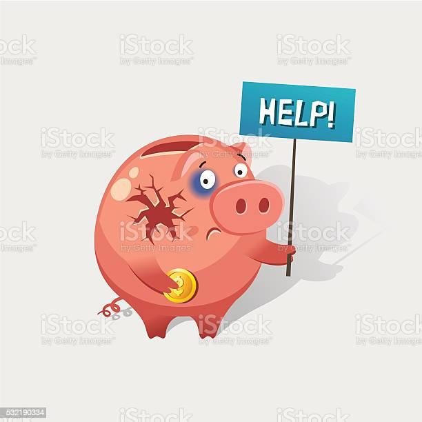 Broken Piggy Bank Free Vector Art - (13 Free Downloads)