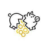 istock Broken piggy bank 1155267880