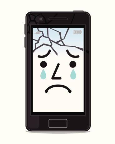 Broken smartphone screens
